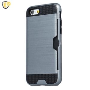 Srebrna - Defender Card Silikonska Maskica za iPhone X/XS