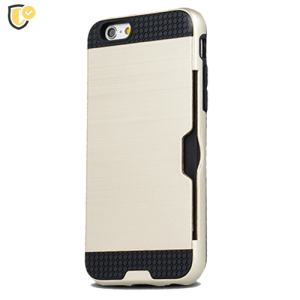 Zlatna - Defender Card Silikonska Maskica za iPhone XS Max
