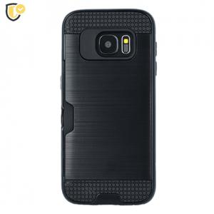 Crna - Defender Card Silikonska Maskica za Galaxy S5