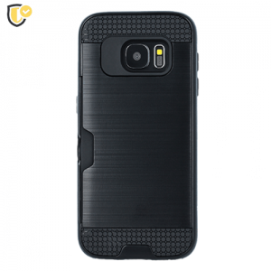 Crna - Defender Card Silikonska Maskica za Galaxy S9
