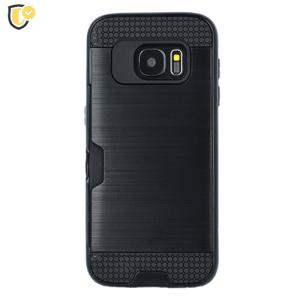 Crna - Defender Card Silikonska Maskica za Galaxy S9 Plus