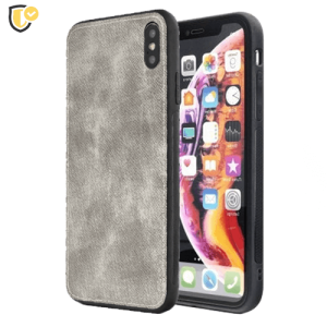 Siva Silikonska Denim Maskica za iPhone X/XS
