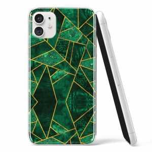 Silikonska Maskica - Zlatno zeleni marble - S111