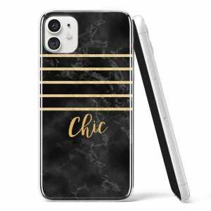 "Silikonska Maskica - ""Chic"" crno zlatni marble - TX04"