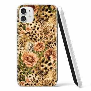 Silikonska Maskica - Ruže i uzorak geparda - TX18