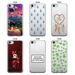 Silikonska Maskica za iPhone 7 / 8 / SE 2020 - Šareni motivi