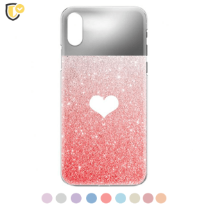 Glitter Heart Silikonska Maskica za iPhone XR