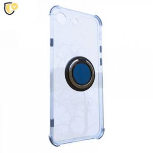 Prozirna Silikonska Maskica sa Prstenom za iPhone 7/8