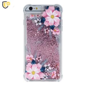 Liquid Pink Flower Silikonska Maskica za Galaxy S9 Plus