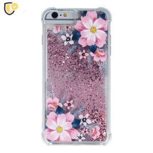 Liquid Pink Flower Silikonska Maskica za Galaxy S9