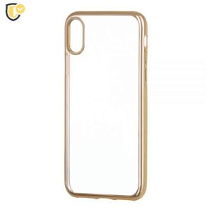 Silikonska Maskica s Metallic Rubovima za iPhone 7/8 - Zlatna
