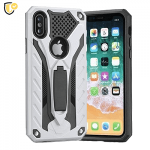 Srebrna Defender Stand Maskica za iPhone 5/5s/SE