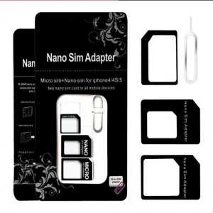 """Noosy"" Nano SIM na Micro SIM Adapter 4u1"