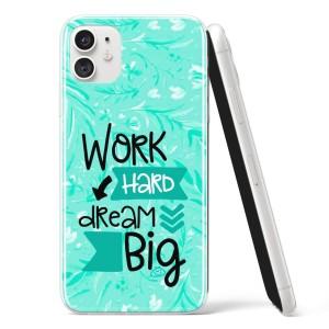"Silikonska Maskica - ""Work hard, dream big"" - OM22"