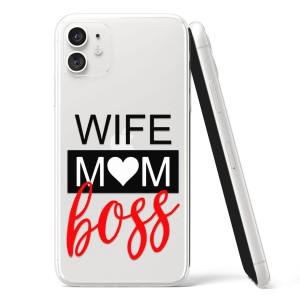 "Silikonska Maskica - ""Wife, mom, boss"" - OM27"