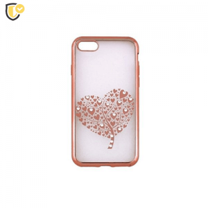 Beeyo Hearts Tree Silikonska maskica za Galaxy J5 (2017) - Rose Gold