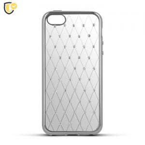 Beeyo Diamond Grid Silikonska maskica za Xperia M5 - Silver