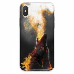 TPU Šarena Silikonska Maskica - ''Fire Wolf'' - 023