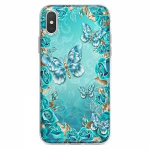 TPU Šarena Silikonska Maskica - ''Blue Butterflies'' - 105