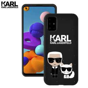 Crna Karl Lagerfeld Silikonska Maskica za Galaxy A71