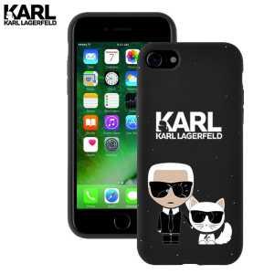 Crna Karl Lagerfeld Silikonska Maskica za iPhone 7 / 8 / SE (2020)