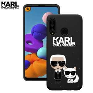 Crna Karl Lagerfeld Silikonska Maskica za P40 Lite E