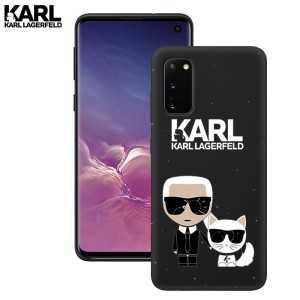 Crna Karl Lagerfeld Silikonska Maskica za Galaxy A21s
