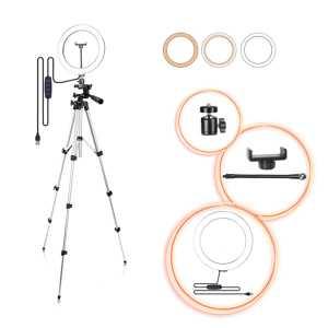 Univerzalni teleskopski selfie Tronožac za Mobitel i fotoaparat za Slikanje (tripod) s Lampom