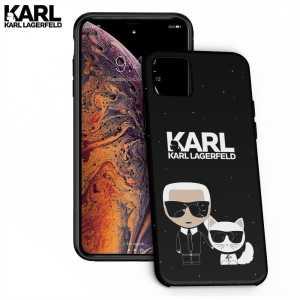 Crna Karl Lagerfeld Silikonska Maskica za iPhone 11