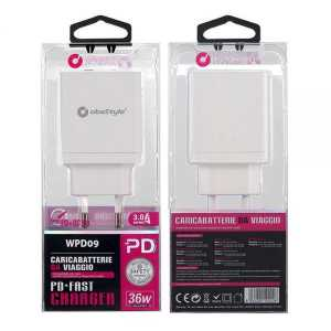 ObaStyle Type C Dual Usb Adapter - Zidni punjač