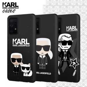 Crna Karl Lagerfeld Silikonska Maskica za Galaxy A72 / Galaxy A72 5G - Više motiva