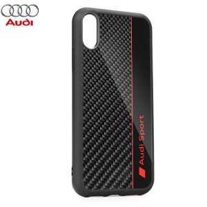 AUDI Carbon Fibre Originalna Maskica za iPhone XS Max