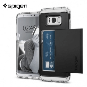 Spigen Crystal Wallet Maskica za  Galaxy S8 - Crystal Clear