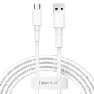 Baseus USB na Micro USB 2.4A Punjački/Data kabel 1m - Bijeli