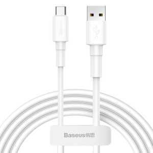 Baseus USB na Type C 2.4A Punjački/Data kabel 1m - Bijeli