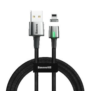 Baseus Lightning Punjački/Data Magnetni kabel 2.4A 1m – Crni