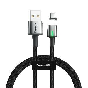 Baseus Type C Punjački/Data Magnetni kabel 3A 1m – Crni