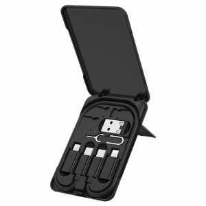 Kabel 3u1 (USB tip C + Lightning + Micro USB) 3A - Crni