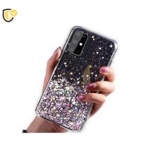 Glitter - Prozirna šljokičasta - Silikonska Maskica za Galaxy A02S - Više boja