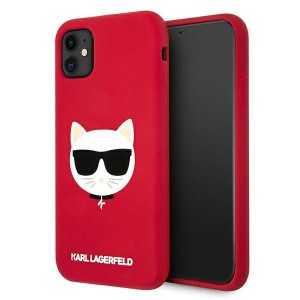 Karl Lagerfeld Silicone Choupette Maskica za iPhone 11 – Crvena