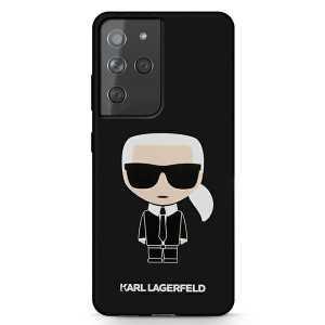 Karl Lagerfeld Silicone Iconic maskica za Galaxy S21 Ultra – Crna