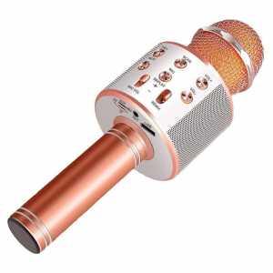 Karaoke Bluetooth Mikrofon sa Zvučnikom - Svijetlo Rozi