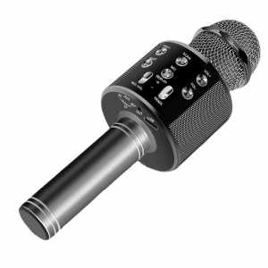Karaoke Bluetooth Mikrofon sa Zvučnikom - Crni