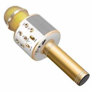 Karaoke Bluetooth Mikrofon sa Zvučnikom - Zlatni