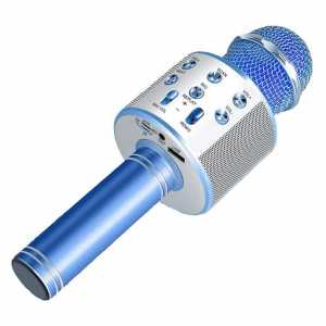 Karaoke Bluetooth Mikrofon sa Zvučnikom - Plavi