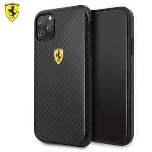 Ferrari Originalna Carbon Maskica za iPhone 11 Pro – Crna