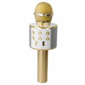 Forever Karaoke Bluetooth Mikrofon sa Zvučnikom BMS-300 - Zlatni