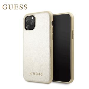 Kožna GUESS Iridescent maskica za iPhone 11 – Zlatna