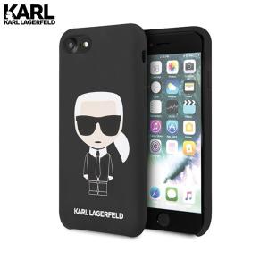 Karl Lagerfeld Silicone Ikonik maskica za iPhone 7 / 8 / SE 2020 – Crna