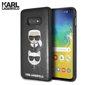 Kožna Karl Lagerfeld Maskica za Galaxy S10e – Crna